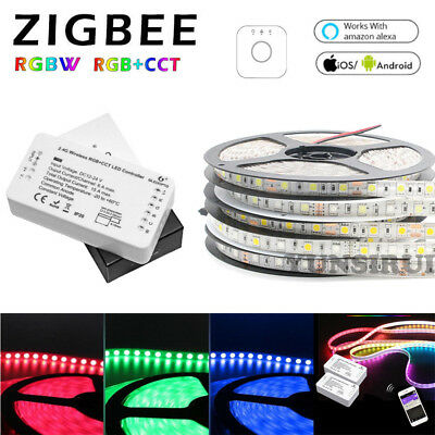 ZigBee RGB+CCT RGBW Controller+5050 SMD LED Strip+Power Supply For Echo Plus