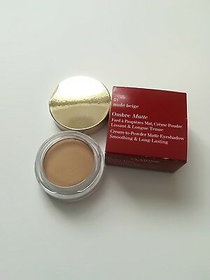 Clarins Ombre Matte Cream to Powder Eyeshadow Long Lasting 01 nude beige