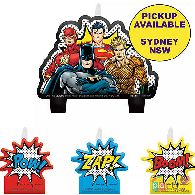 Justice League Party Supplies Superhero Birthday Cake Toppers Candle Decorations