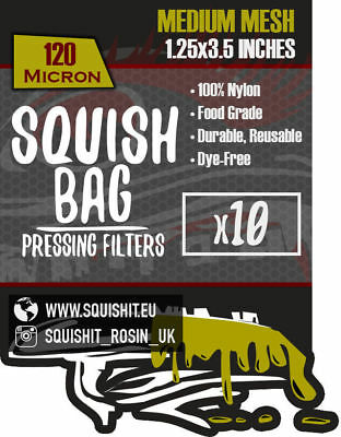 """1.25 x 3.5"""" - SQUISHIT® SQUISH BAGS Rosin Extraction Micron Filter Press Devil"""