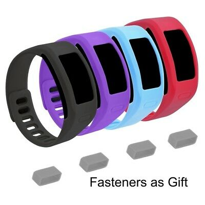 (Large, 4 pack 2nd) - EverAct™ Colourful Replacement Bands for Garmin Vivofit
