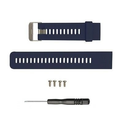 (Navy Blue) - Replacement band for Garmin Forerunner 35, Silicone Replacement