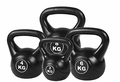 4pcs Exercise Kettle Bell Weight Set 20KG Home Gym Training