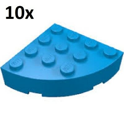 LEGO 10x BRICK ROUND 4x4 CORNER LOT YOU PICK COLOR base curved part #2577