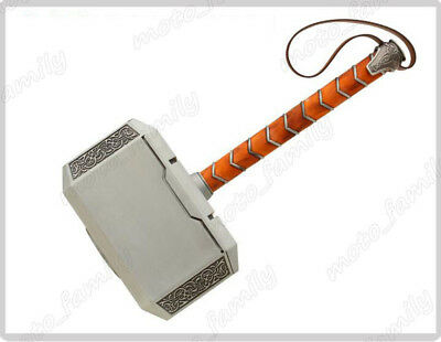 Avengers 1:1 Alloy Metal Replica Thor Hammer with Stand Base Cosplay Props+Base