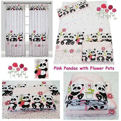 Nursery Baby Bedding Set fit Cot 120x60 cm or Cot Bed 140x70 160x70 PINK PANDA