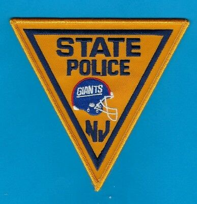 New York Giants New Jersey State Police Department Novelty Shoulder Patch