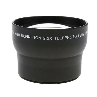 Universal 62mm 2X Telephoto Conversion Lens for Canon Nikon Sony DSLR Camera