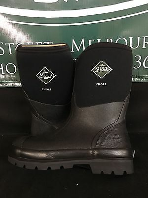 Muck Boot Co. Chore Classic Mid Black Men's Women's Sizes CHM-000 BRAND NEW