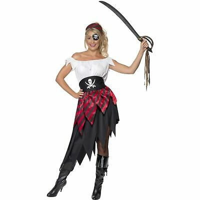 Buccaneer Babe Pirate Captain Wench Shipmate Womens Ladies Fancy Dress Costume