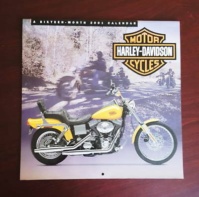 Calendario HARLEY DAVIDSON 2001 calendar illustrato softail sportster fat boy