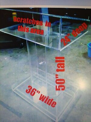 Local Pick Up Only- Clear Acrylic Lucite Plexiglas Church Podium Pulpit Lectern