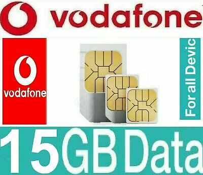 Vodafone 100GB Unlimited 4G / 5G Data Sim card Voxi for Dongle Tablet Mobile PS4