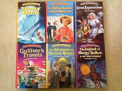 TREASURY Of ILLUSTRATED CLASSICS Lot Of 6 Hardcover Books Boys Collection