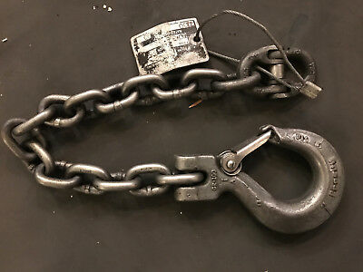 Crosby Gr 100 Hook chain choker with Hammerlock end link. #7,100 rating