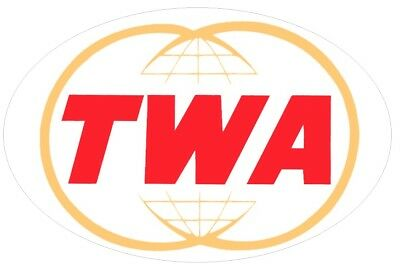 Twa Trans World Airlines Sticker Decal Car Bumper Vintage Original White Big New