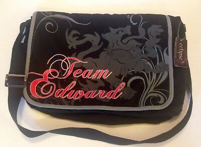 Twilight Saga Eclipse Team Edward Swirl Lion Messenger Bag