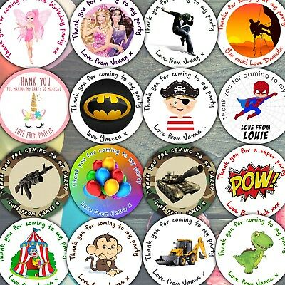 Personalised Birthday Party Stickers Labels Thank You For Coming To My Party Bag