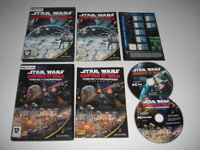 STAR WARS EMPIRE AT WAR +  Forces Of Corruption Expansion Pc DVD Rom