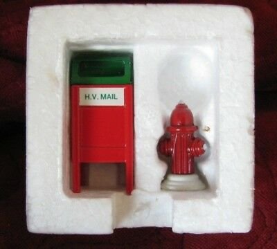 Dept 56 Village Accessory - Mail Box / Fire Hydrant 52140 Set 2 Retired Wbx Exc