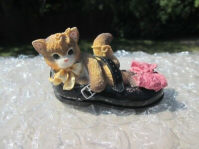 """Calico Kittens, Enesco, 1997, #314552, """"I'll Be There Every Step of The Way, Box"""