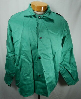 NWOT Mens Green XL Tillman Cotton Welding Jacket Westex FR-7A