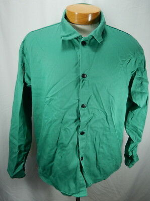 "NWOT Mens Green XL Black Stallion FR 30"" Cotton Welding Jacket F9-30C"