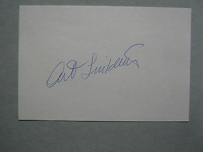 ART  LINKLETTER  (Died in 2010) Kids Say the Darndest Things  Signed  Index Card