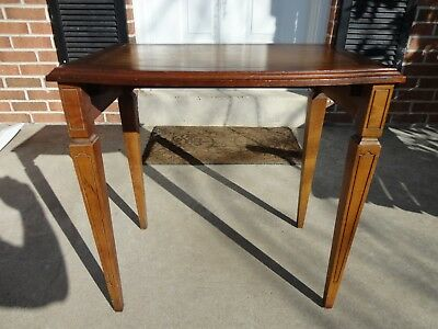 End Table Side Table Mid Century Modern Leather Top