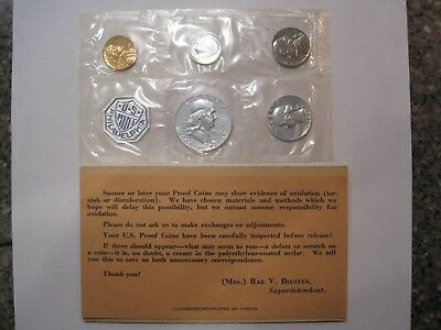 1961 Proof Set With COA ~ Flat Pack Original Envelope ~ US Silver Mint Coin Set