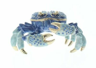 crustaceans in resin real crab marine nature set in quality gift display box