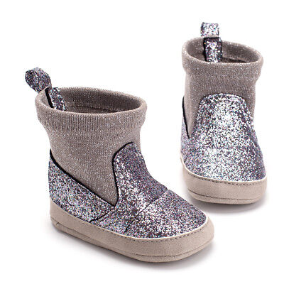 Toddler Baby Girls Crib Moccasin Shoes Kids Soft Soled PU Leather Casual Boots