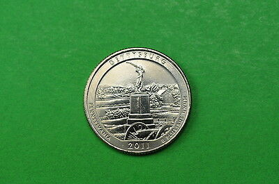 2011-D  BU  Mint State  (Gettysburg) US National Park Quarter