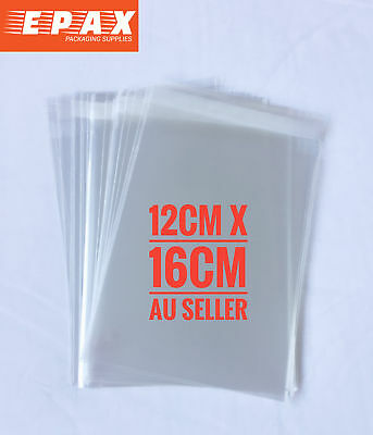 70pcs Self Adhesive Self Seal Cellophane Resealable Clear Plastic Bags 12x16cm