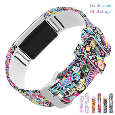 Soft Silicone Replacement Spare Watch Band Strap for Fitbit Charge 2  US
