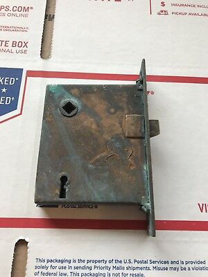 vintage mortise door latch with lock (19#)