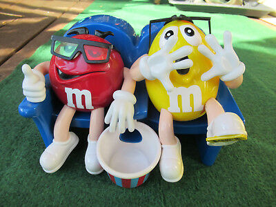 m&m Spender Kino / Sofa / Sessel im Popcorn Eimer- Red Yellow Dispenser Smarties