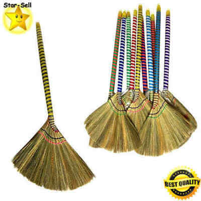 "Vietnam Handmade Straw Soft Broom 38"" Long"