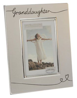 """Two Tone Silver Plated Granddaughter 4"""" x 6"""" Photo Frame by Haysom Interiors"""