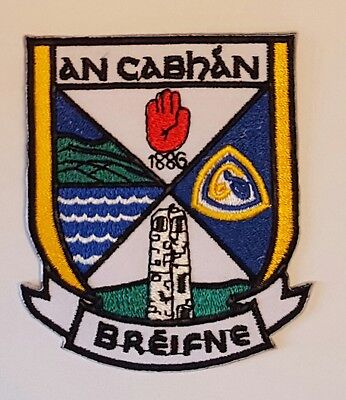 Cavan County GAA Gaelic Hurling Football iron on/ sew embroidered patch badge