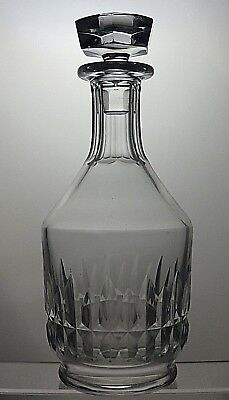 """Baccarat Crystal """"Canterbury"""" Cut Glass Round Wine Decanter -Signed-10"""" Tall"""