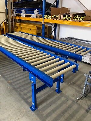 Roller Track conveyor 300mm width rollers 3000mm long on legs Brand new :)