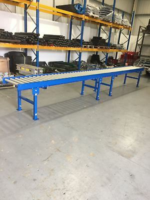 Roller Track conveyor 300mm width rollers 5000mm long on legs Brand new :)