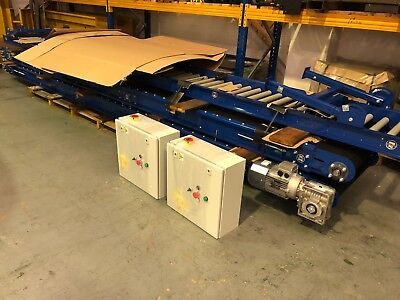 Roller Track conveyor 500mm width rollers 2000mm long on legs Brand new :)