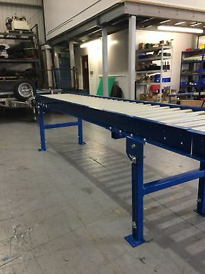 Roller Track conveyor 500mm width rollers 7000mm long on legs Brand new :)