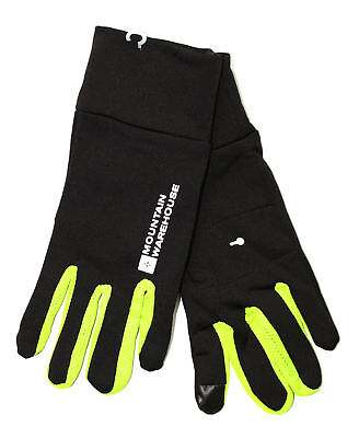 Black Yellow Force Running Gloves Size M/L RRP?20
