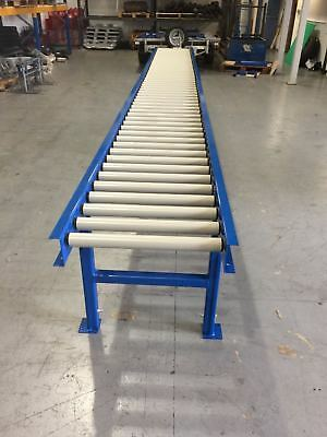 Roller Track conveyor 600mm width rollers 3000mm long on legs Brand new :)