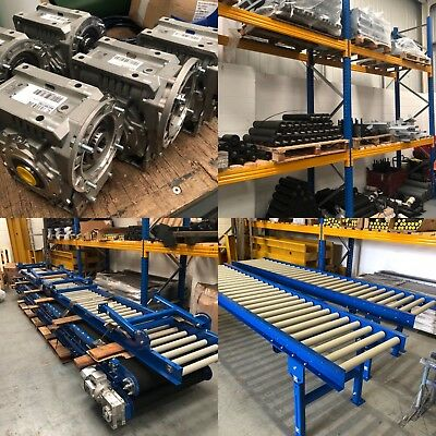Roller Track conveyor 600mm width rollers 4000mm long on legs Brand new :)