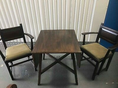 Arts and Crafts folding table and chairs