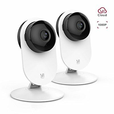 YI 2pc 1080P Home Camera Wireless Indoor Security IP Camera with Night Version M